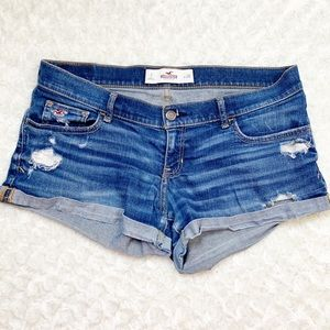 Hollister Jean Shorts Distressed Size 28